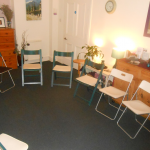 Cosy room set up with chairs for a small group class