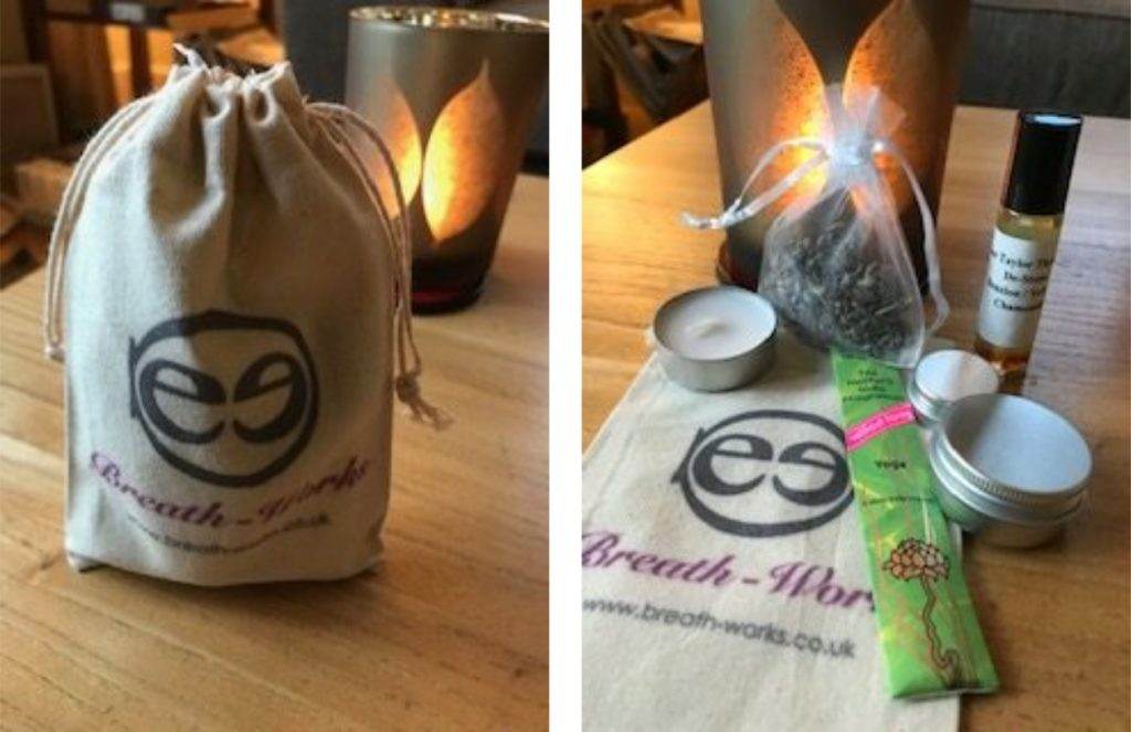 Breath-Works handmade aromatherapy products goody bag - Dee Taylor Therapies